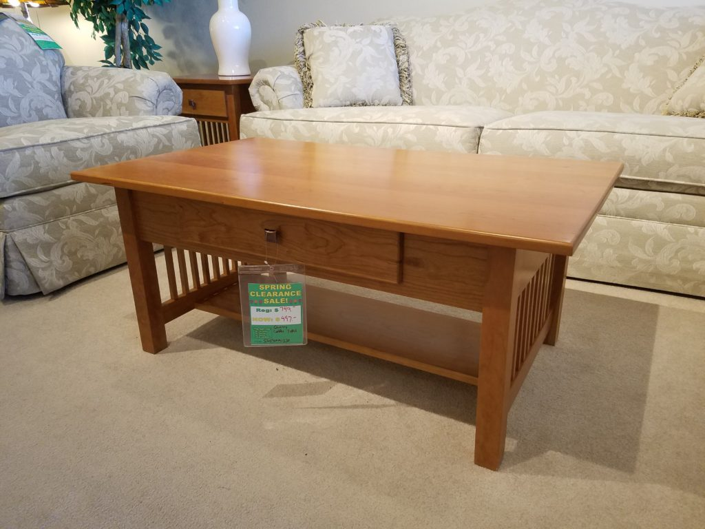 Amish cherry coffee table