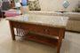 Oak Granite Coffee Table