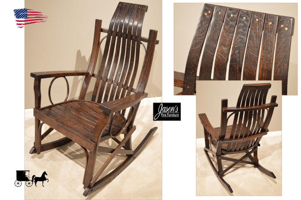 amish rough sawn rocker