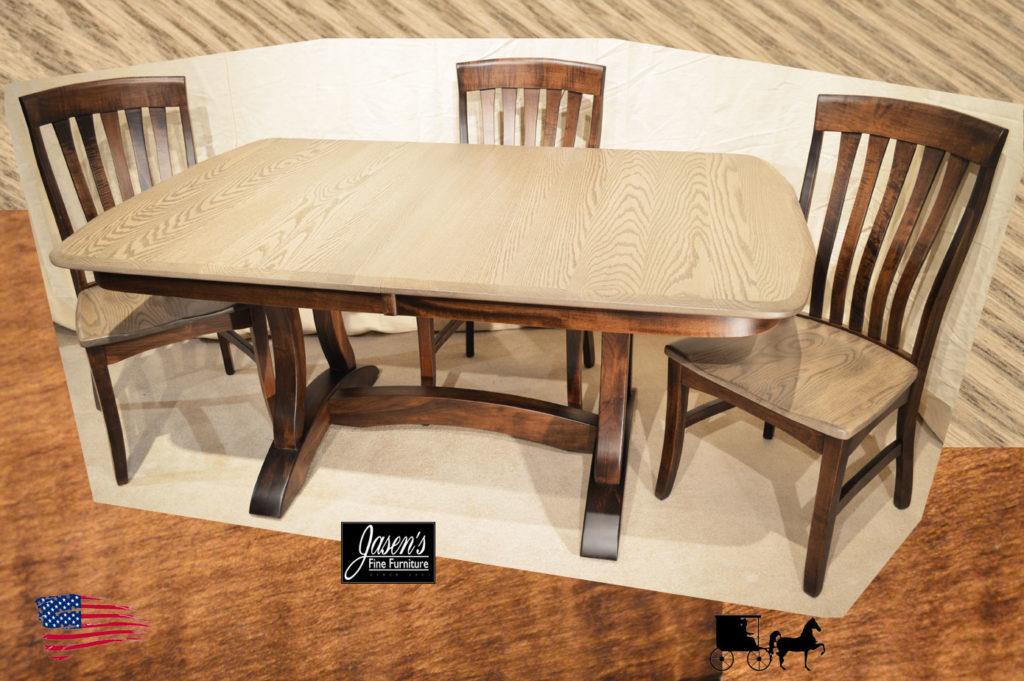 amish richfield double pedestal table